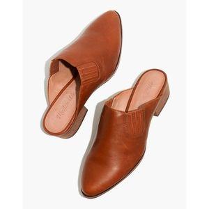 Madewell 8.5 Lanna Mule English Saddle Leather